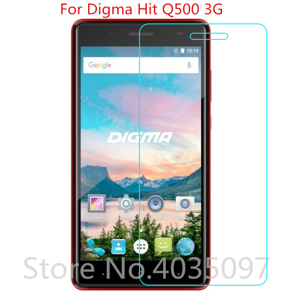 2.5D 9H Glass For Digma Hit Q500 3G Screen Protector Tempered Glass For Digma Hit Q500 3G Anti-Scratch Protective Film