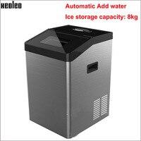 Xeoleo Otomatik Buz makinesi 55 kg/24 h 8 kg depolama Küp Buz makinesi 44 ızgara kahve için uygun dükkan/bar ile Su Arıtma