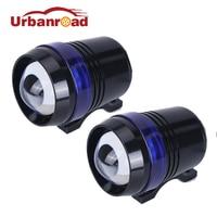 Motocycle פנס U3 30 W LED אנג 'ל עיניים אור הנהיגה ערפל זרקור מנורה עם עדשת ראש מנורת Strobe 12 V ATV Offroad רכב