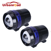 Motocycle Koplamp 30 W LED U3 Angel Eye Rijden Licht fog lamp met lens Head Lamp Spotlight Strobe 12 V ATV Offroad auto