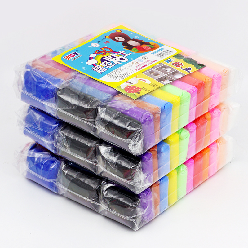 CHILDRENS COLOURED PLASTICINE MODELLING CLAY 10 COLOURS