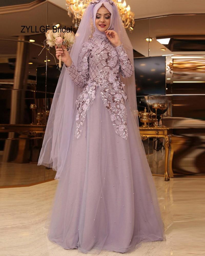 ZYLLGF Bridal 2017 New Hijab Evening Dress Princess High ...