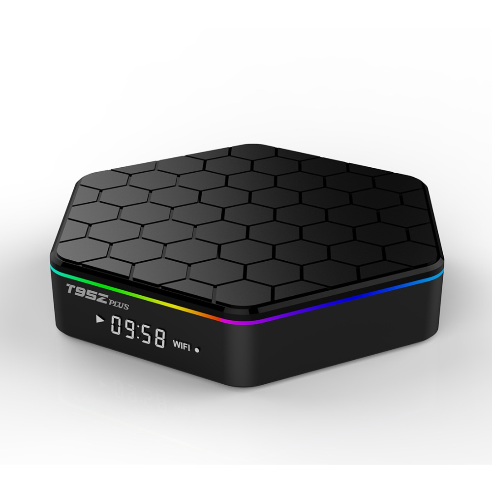 T95Z Plus S912 TV Box 5.0GHz WiFi TV Box Android 7.1 Octa Core ddr4 3GB RAM 32GB ROM 1000M Gigabit LAN 4K Android Boxes T95ZPlus