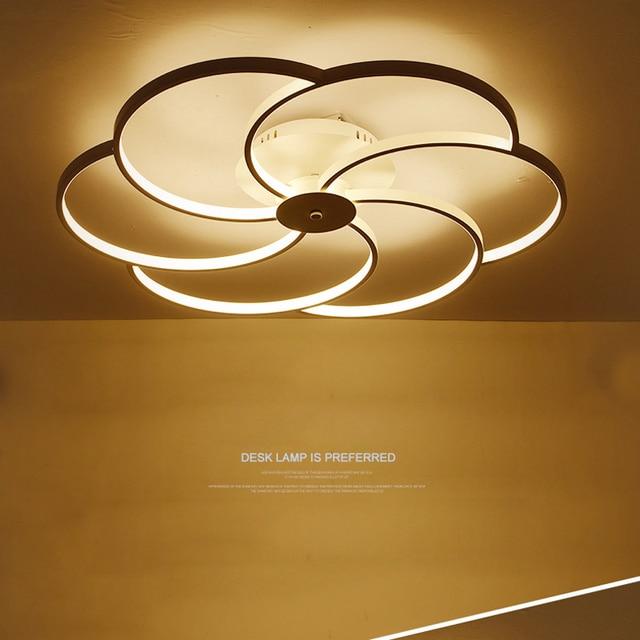 Attractive Minimalist Led Living Room Ceiling Lights Creative LED Flush Mount Ceiling  Light Aluminum Acrylic Lamp Iluminacion Led Techo