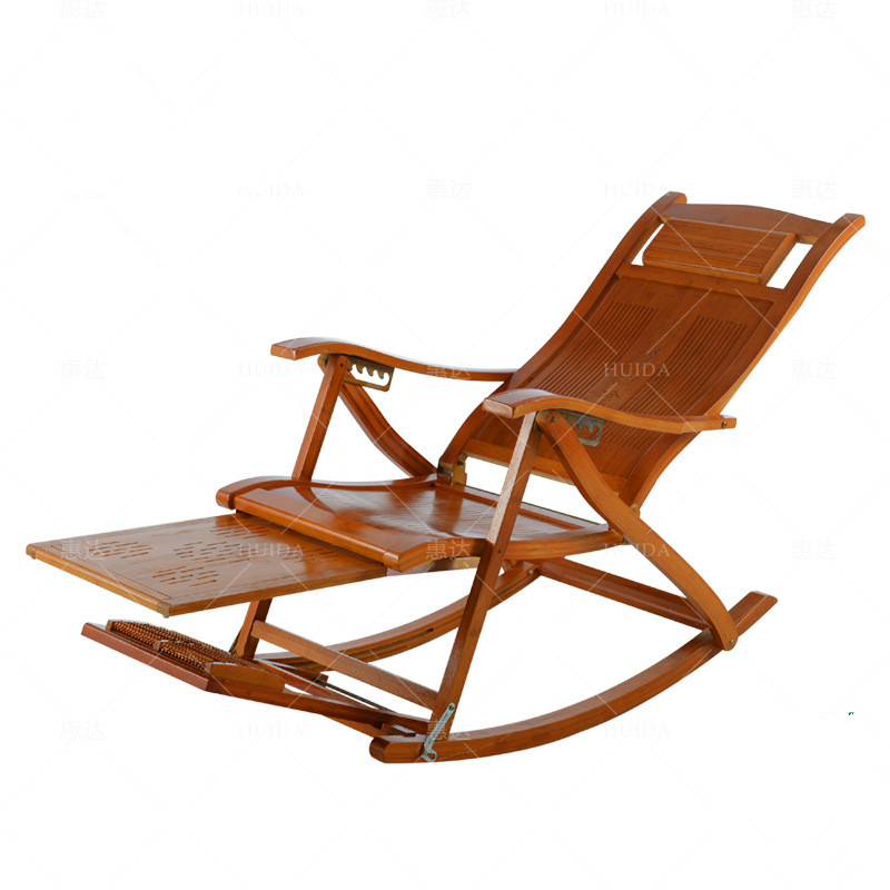Outstanding Us 158 43 30 Off Rocking Chair Adult Lazy Lunch Break Folding Bamboo Recliner Outdoor Leisure With Handle Old Man Balcony Wooden Rocking Chair In Machost Co Dining Chair Design Ideas Machostcouk