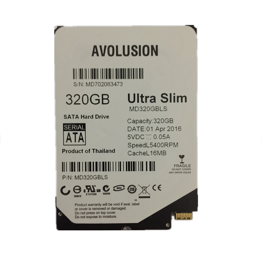 320gb 2.5inch UltraSlim 5MM 16MB 5400RPM SFF-8784 SATA Express გარანტია 1-წლიანი