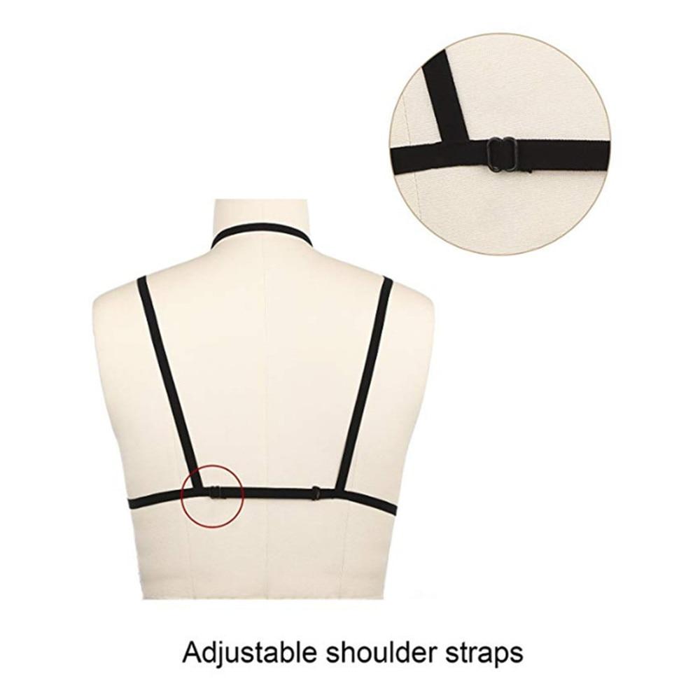 Sexy Bra Elastic Belt Up Strap Bra Clubwear Female Cupless Chest Bandage Adjustable S-XL Erotic Underwear Lingerie for Women (1)