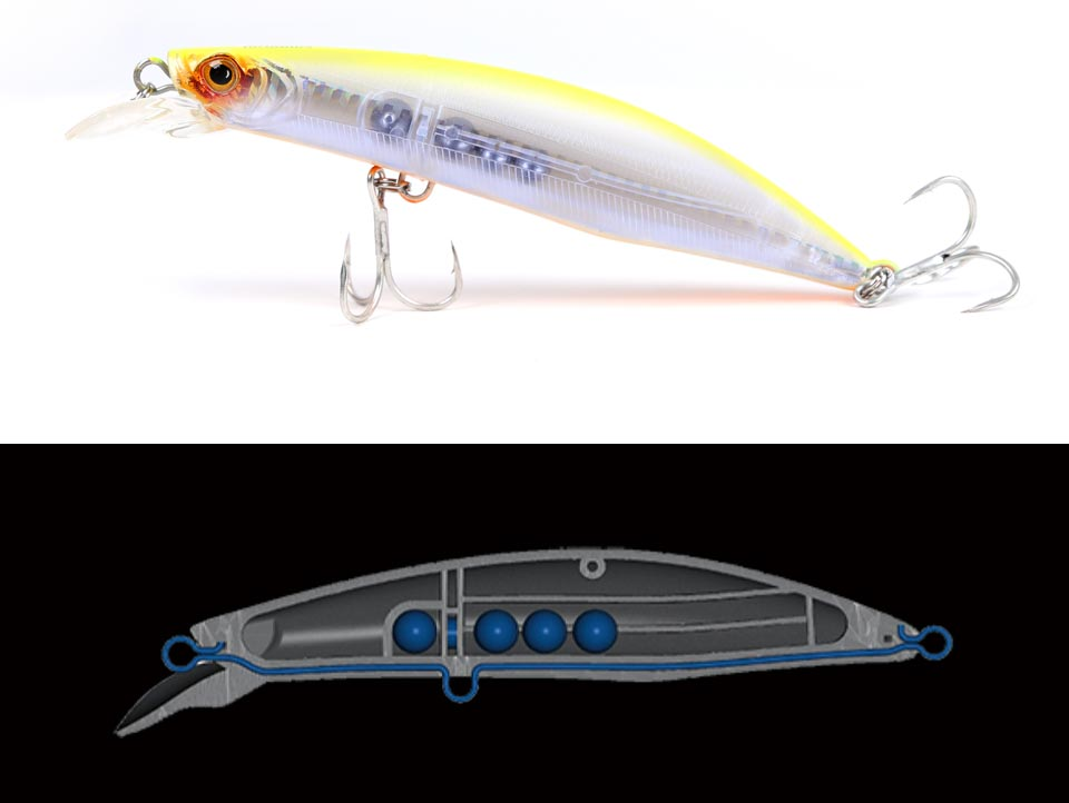 Kingdom fishing lure minnow floating 100mm 20.7g,120mm 30g fishing wobblers lifelike fishing lure Artificial Bait model 5501 (3)