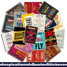 25pcs/pack Classic Fashion Style Inspirational Quote Stickers For Mobile Phone Car Moto Laptop Luggage Bicycle Skateboard Decal