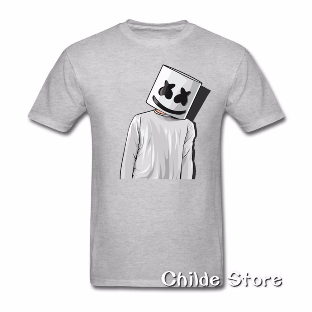 0e69ae71 2018 Cheap Price Unique Tee Shirts Marshmello FAN ART mens t shirts Youth  Short T Shirt Crew Neck Hombre Funny Tees-in T-Shirts from Men's Clothing  on ...