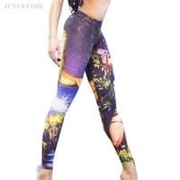 Gothic Leggings Capris Women Fitness Legging Hot Sale Harajuku Workout Leggins Crop Femme Cartoon 2017 Pencil
