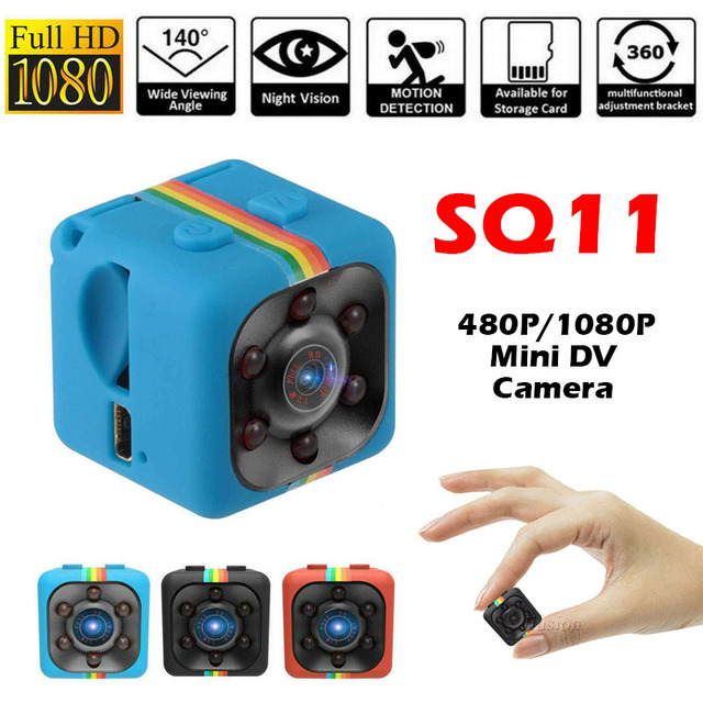 SQ11 480P/1080P Mini Camera Espia Oculta Micro Video Gizli Kamera Small DV DVR Pocket Camaras HD Body Cam Support Hidden TF Card