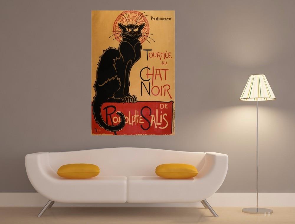 Chat Noir Gato Venta Caliente Retro Vintage Posters and Prints ...