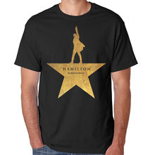 Summer HAMILTON T Shirt Men Women An American Musical Broadway Gold Star Cotton O Neck Short Sleeve Tshirt