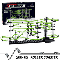 1350cm Rail Level 3 Marble Run Night Luminous Glow In The Dark Roller Coaster Model Building Kit Toy Maze Rolling ball Sculpture