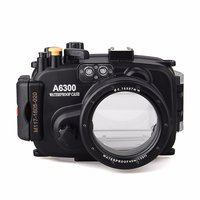 EACHSHOT 40m 130ft Waterproof Underwater Camera Housing Case For A6300 Can Be Used With 16 50mm