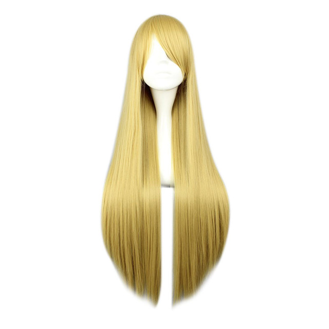 Long Straight Bright Color Synthetic Hair None-Lace Wig