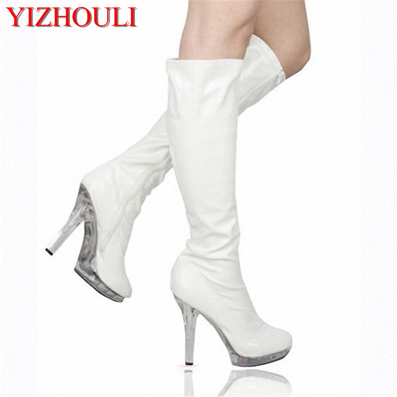 Six inches of sexy over knee boots, fashion crystal stiletto heels, and womens skinny thighs 13cmSix inches of sexy over knee boots, fashion crystal stiletto heels, and womens skinny thighs 13cm