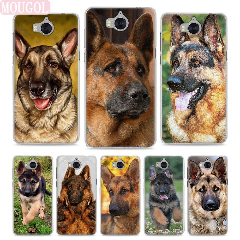 Mougol Лидер продаж Соболь немецкая овчарка щенок Стиль тонкий прозрачный чехол для телефона Huawei Y3 Y5 2017 Y6 II Y6 Pro honor 8 Lite G7 ...