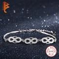 Fashion Jewelry Original 925 Sterling Silver Infinity Bracelet Cubic Zirconia Crystal Charm Bracelets Bangles For Women