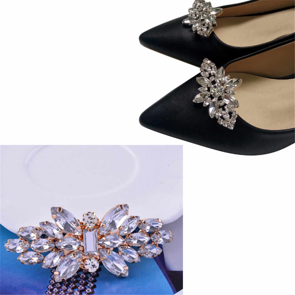 ... 1Pcs Crystal Shoes Buckle Women Shoes Decoration Clips Bridal Charm Decor  Fashion Shoe Accessories New ... f1a8d1e5b1fa