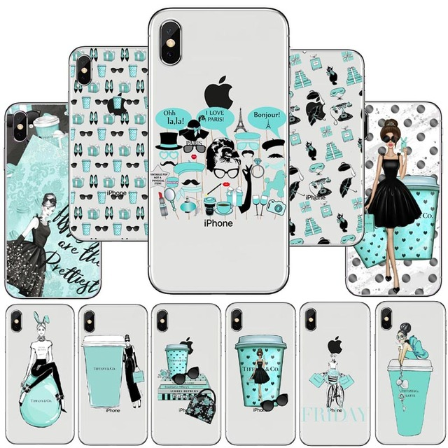 classic fit 6cc19 e4d0f US $1.64 43% OFF|Breakfast at Tiffany's TPU Silicone Phone Cover For iPhone  7 7Plus Case For iPhone 7 XS Max 5S SE 6 6S Plus Holly Golightly case-in ...