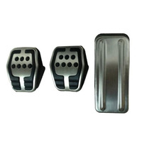 Stainless Steel And Rubber High Grip Racing Pedal Covers For Ford Focus 2 Focus 3 MK2