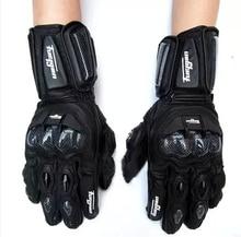 Súper asequible afs10 motocicleta guantes de Montar carreras de carretera guante ciclismo guante Genuino guantes de cuero de Carbono