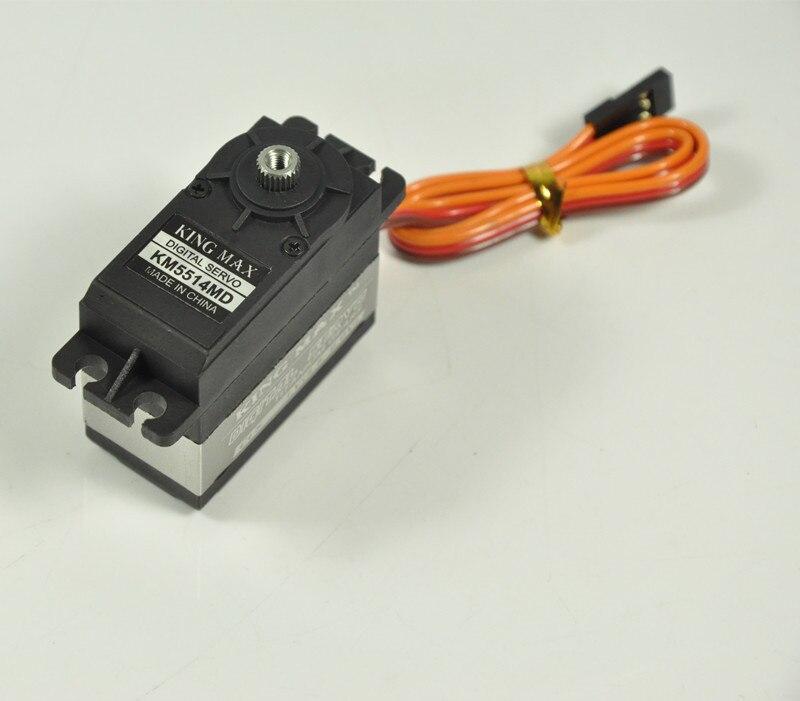 Servomoteur numérique Kingmax KM5514MD à engrenages métalliques pour plaque Swashplate t-rex 550/600, voiture 1/10, avions CCPM 50-100CC balsa