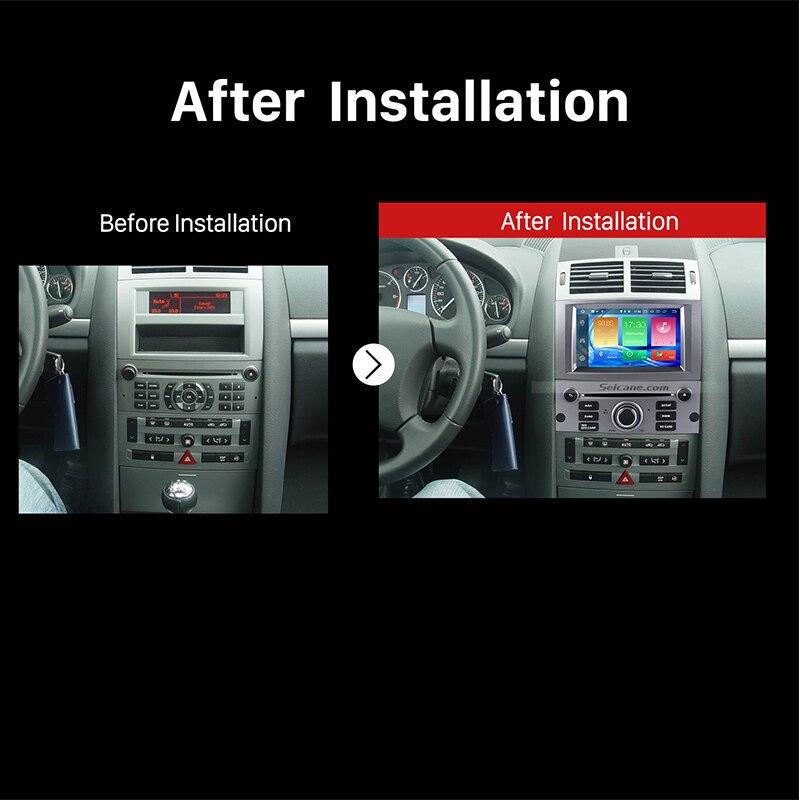 Seicane 1 Din 7 pouces Android 8.0 autoradio système de Navigation GPS lecteur multimédia pour 2004-2010 Peugeot 407 avec FM Bluetooth - 6