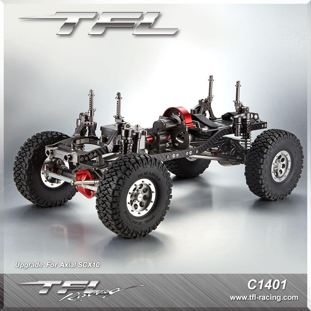 TFL SCX10 série voiture d'escalade en métal 313305 empattement pour voitures RC avec moteur RC4WD/ESC/servos