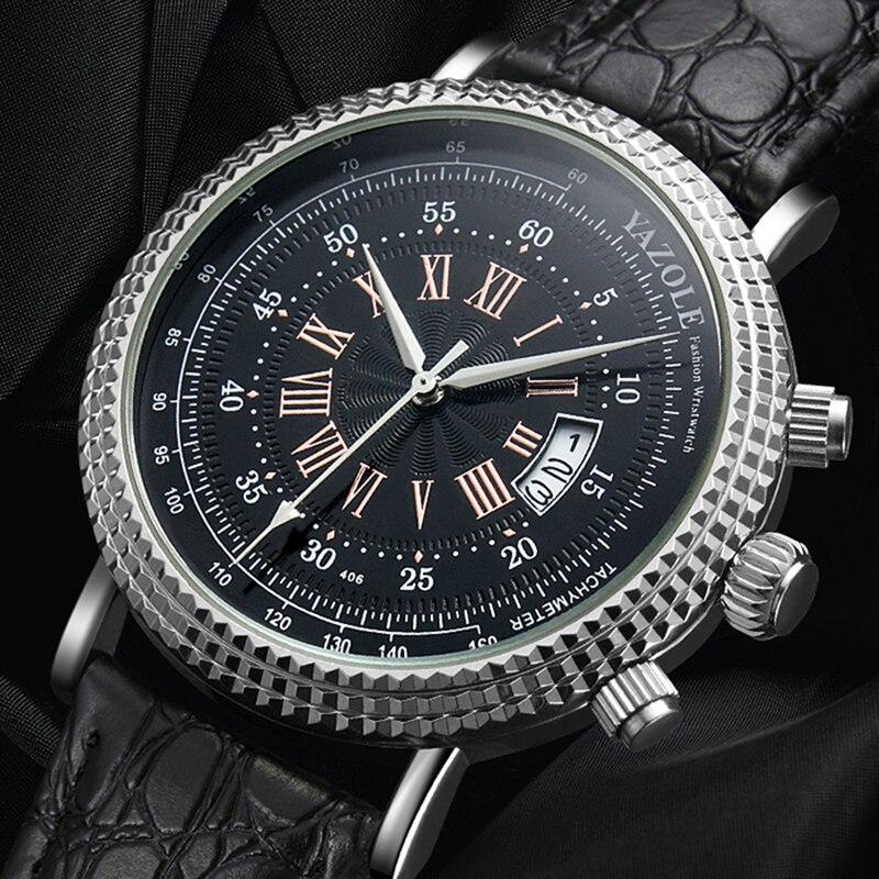 2018 YAZOLE Tachymeter Wrist Watch Men Watch Brand Sport Men's Watch Auto Date Watches Clock saat relogio masculino reloj hombre