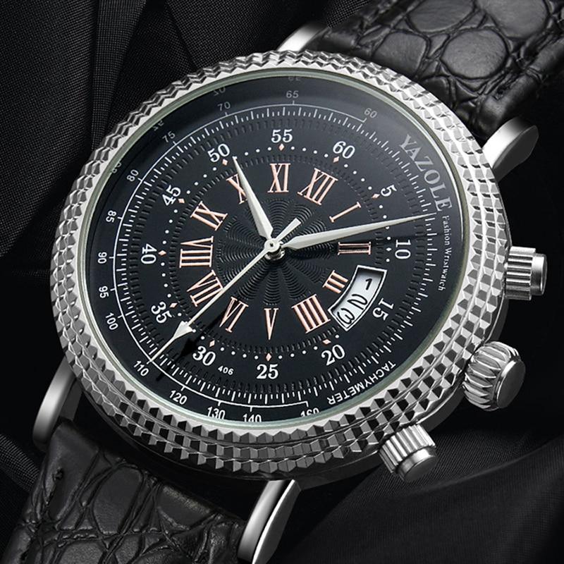 Мужские часы YAZOLE, спортивные часы с тахометром, наручные часы с автоматическим отображением даты, 2019|Кварцевые часы|   | АлиЭкспресс