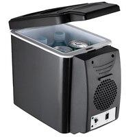 Car Refrigerator 6L Heating Cooling Refrigerator Dual use Incubator Car Freezer Mini Refrigerator Car Accessories 12V BLD 068