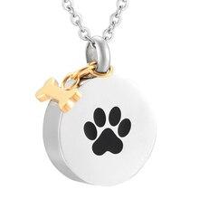 SS9922 DIY Подвески с принтом лапы гравировки Keepsake урны мемориальные украшения для домашних собак ожерелье для праха девочка мальчик ювелирные изделия
