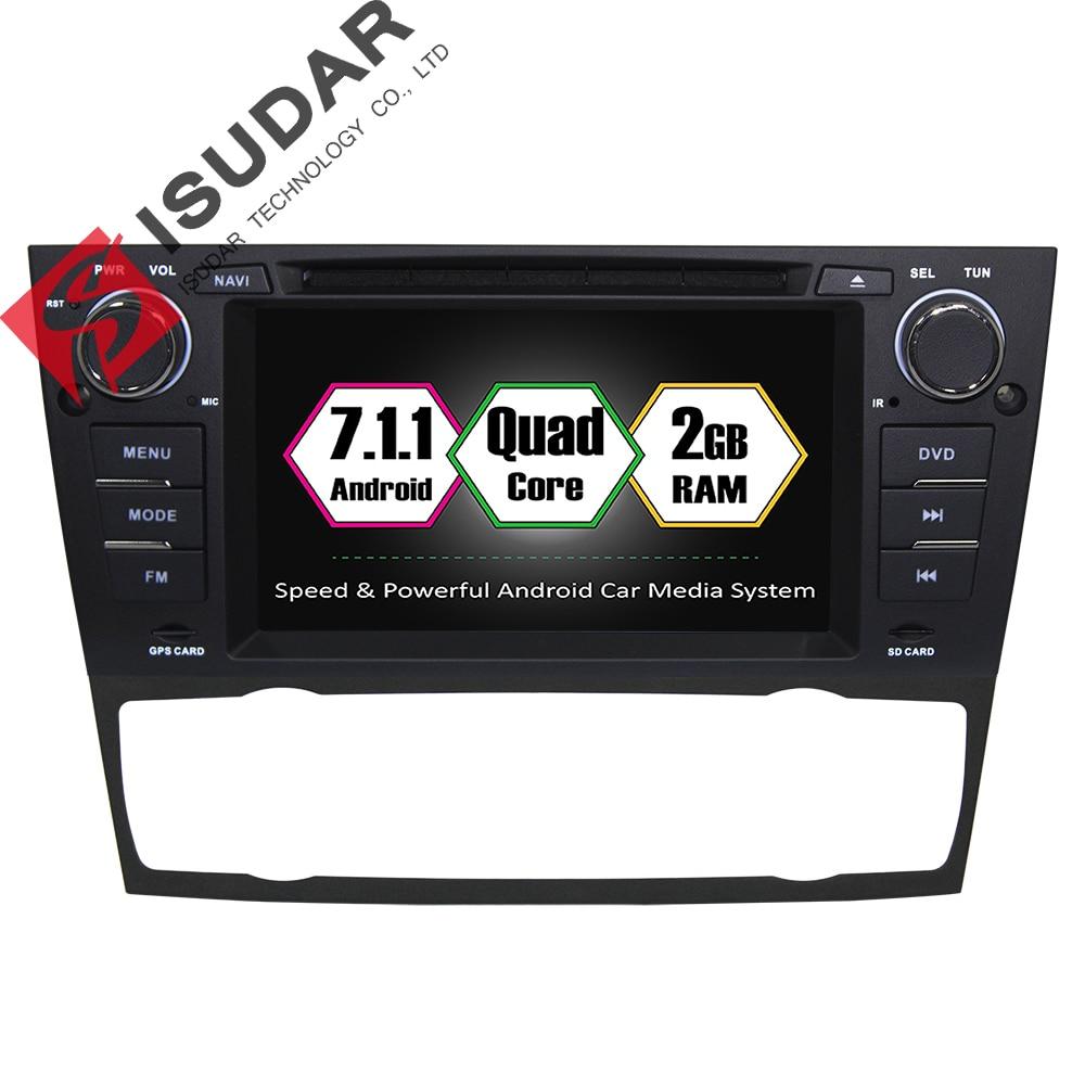 Isudar Car Multimedia Player GPS Android 7.1 1 Din For BMW/3 Series E90/E91/E92/E93 Canbus dvd DSP Bluetooth Radio