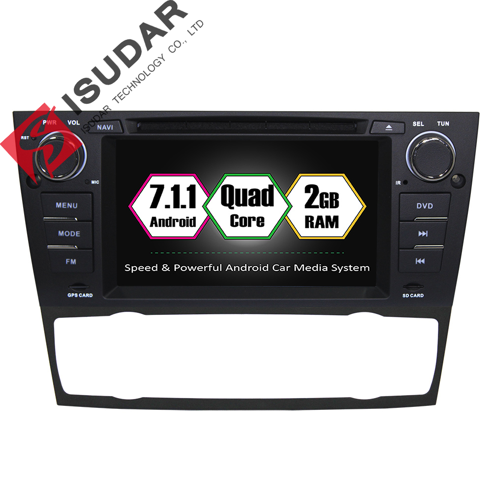 Isudar Car Multimedia Player GPS Android 7.1 1 Din For BMW/3 Series E90/E91/E92/E93 Canbus dvd DSP Bluetooth Radio