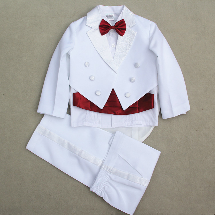 Baby Boys Suits 5 Pieces Formal Tuxedo Suit Brand Newborn Baby Boy Baptism Christening Gown Infant Party Wedding Clothing Set 2016 new arrival fashion baby boys kids blazers boy suit for weddings prom formal wine red white dress wedding boy suits