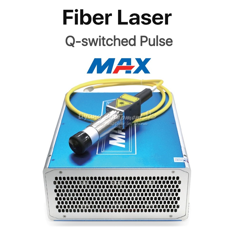 MAX 50W Q-switched Pulse Fiber Laser Source GQM 1064nm  DIY Or Replacement Laser Marking Machine