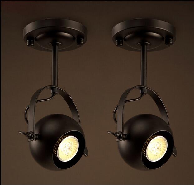 American LOFT led vintage iron ceiling light for restaurants clothing store living room ceiling lamp