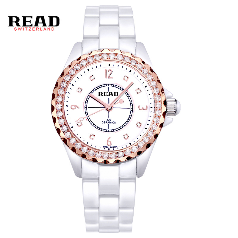 цены Read Brand Women's Watch Dress Imitated Ceramic Ladies Luxury Fashion Bracelet Watches with Fine Steel Strap PR40