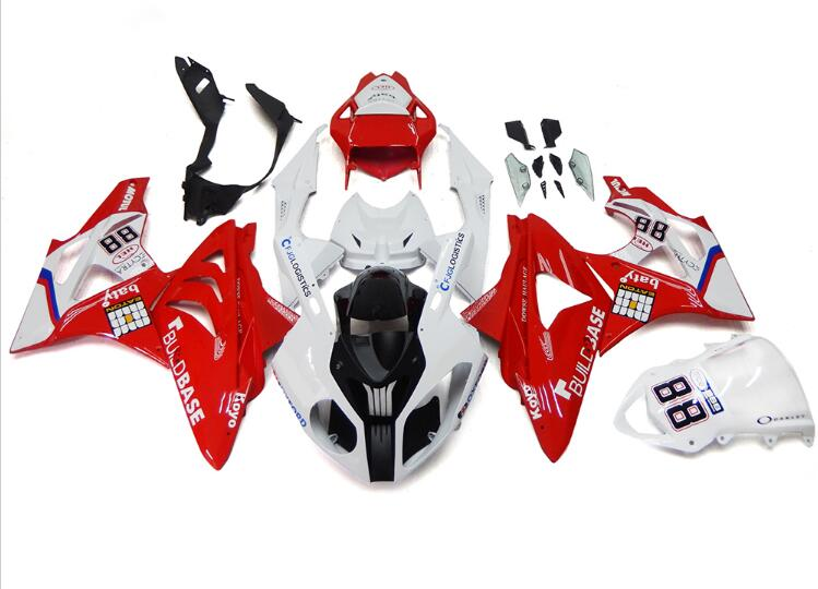 New ABS Fairings For BMW S1000RR 09 12 13 14 1000RR 2009 - 2014 Injection Motorcycle Fairing Kit Bodywork set Red White 88 image