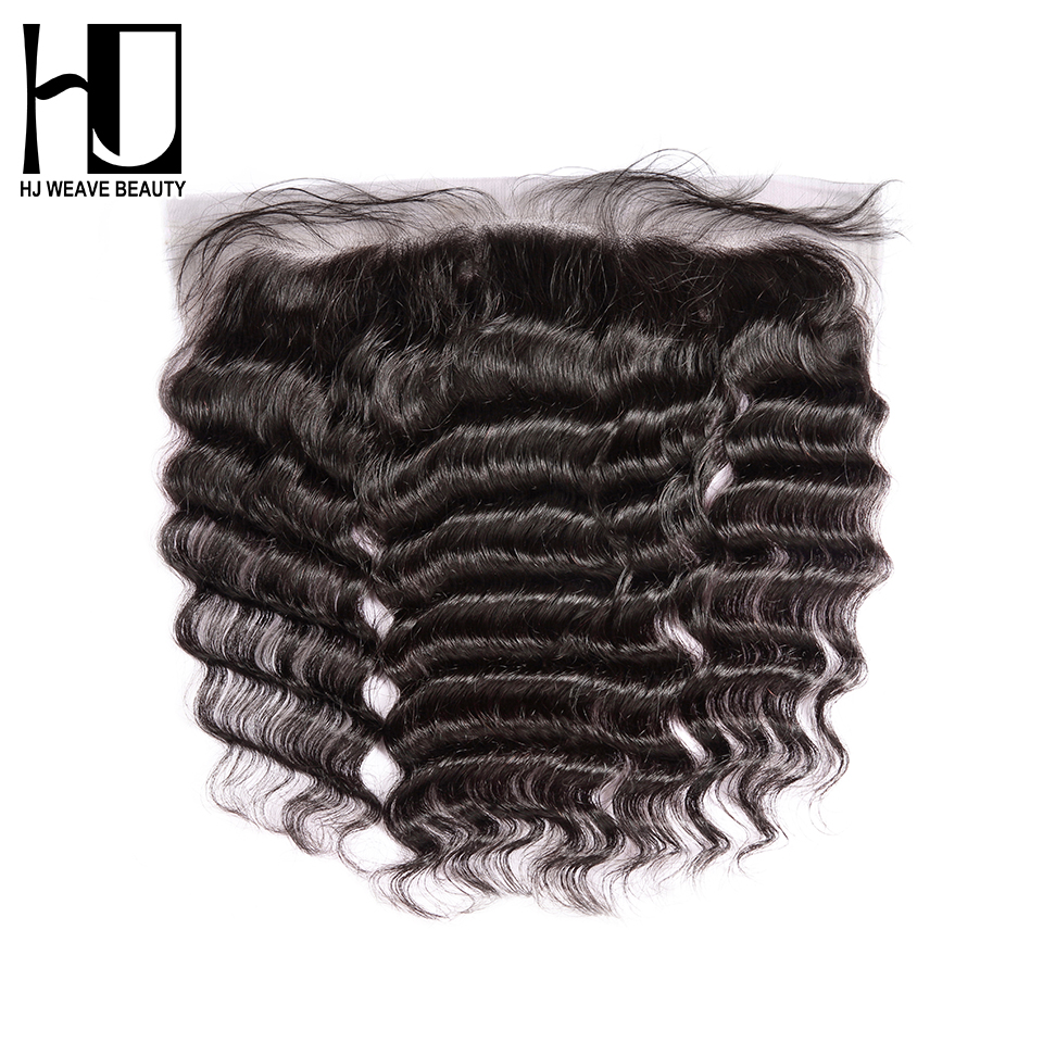 HJ WEAVE BEAUTY Lace Frontal Hair Closure Brazilian Nature Wave Remy Hair 13 4 Swiss