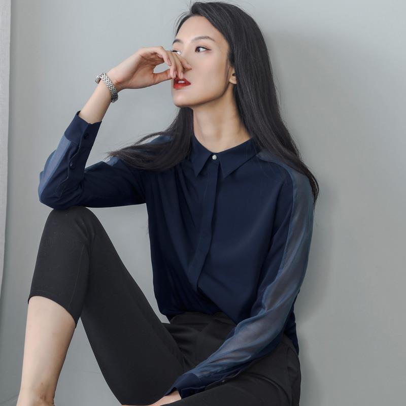 Здесь продается  Shirt Blusas Bayan Bluz Tops Camisa Feminina Women Autumn Hiver Winter Tallas Grandes Korean Chiffon Lunga Long Sleeve Blouse  Одежда и аксессуары