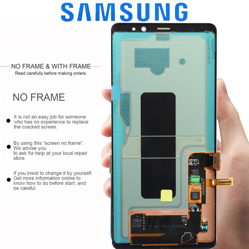 HTB1Hck XwaH3KVjSZFpq6zhKpXaA ORIGINAL 6.3'' SUPER AMOLED LCD with frame for SAMSUNG GALAXY Note 8 Note8 Display Touch Screen Digitizer Assembly
