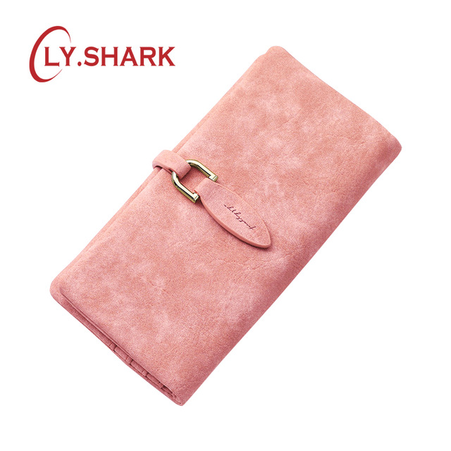 LY.SHARK Brand Woman Wallet Female Purse Women Credit Card Holder Phone Coin Purse Clutch Organizer Leather Ladies Walet Long