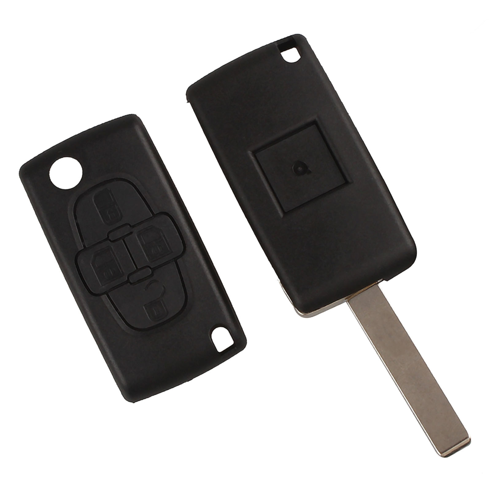 Image 5 - Car Replacement Key Shell 4 Buttons Flip Folding Remote Key Case Fob Cover Blank Blade For Peugeot 1007 Citroen C8-in Car Key from Automobiles & Motorcycles