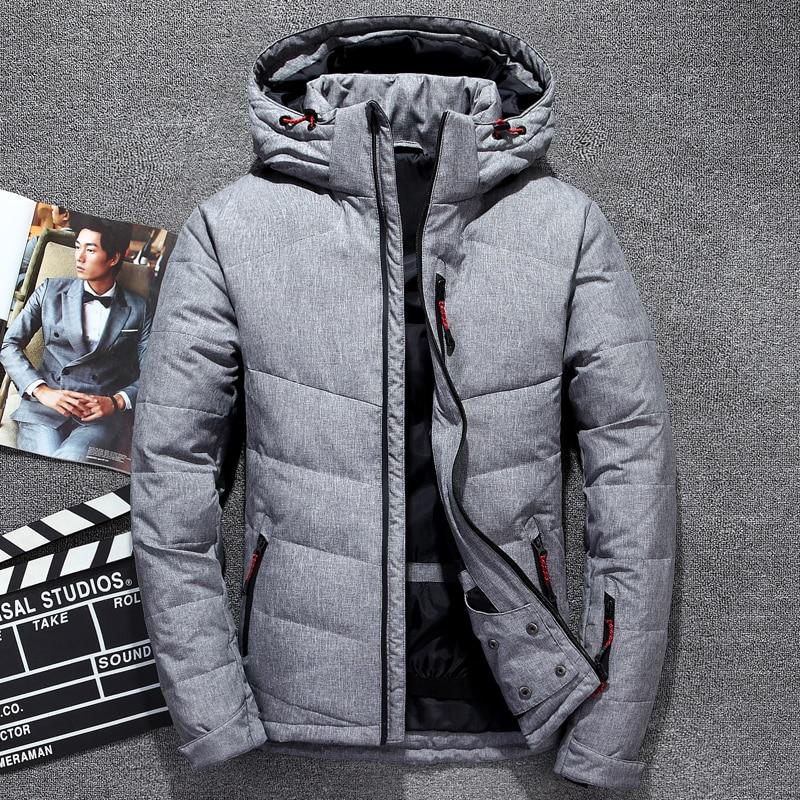 2019 Brand Tace & Shark men's winter   coat   casual hooded white duck   down   jacket for men warm windbreaker doudoune hiver homme
