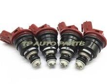 4 PCS Fuel Injector Para-Ni ssan Silvia 180SX S13 S14 S15 SR20DET SR20DE OEM 16600-RR544 16600RR544 16600 RR544