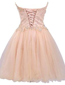 Image 2 - ANGELSBRIDEP Mezuniyet Elbiseleri robes de retour Sexy au dessus du genou robe de Cocktail mode cristal Mini 8th Grade robes de soirée